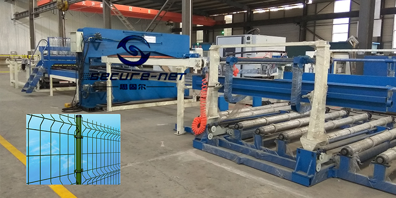 fully automatic 3d panel wire mesh fence welding machine with bending