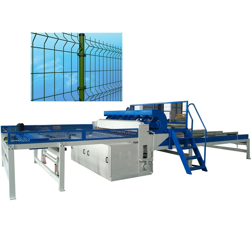 Welded wire mesh panel and 3D fence production line