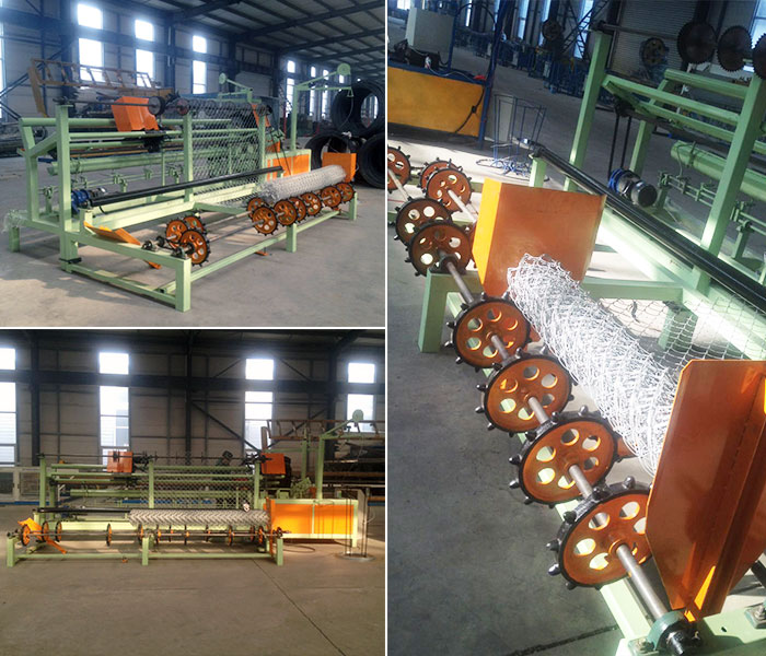 Double spiral fully automatic chain link wire fence making machine